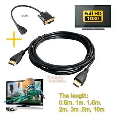 HDMI Cable Male to Male V1.4 1080P + HDMI Female to DVI Male Video Cable Adapter
