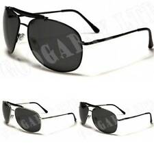 New Mens Womens Polarized Sunglasses UV400 Aviator Retro Designer Black 7700