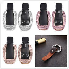 Handmade Crystal Key Cover For Mercedes Key Fob Aluminum Metal Genuine Leather