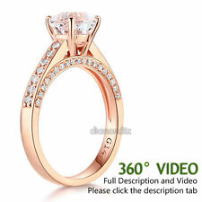 14K Rose Gold Wedding Engagement Ring 1.2 CT Topaz 0.42 CT Natural Diamonds