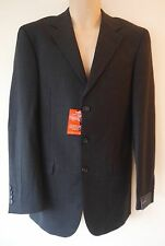 Mens Tailored Suit Jacket Sizes 36L 40R New Charcoal Grey Single Breasted BNWT