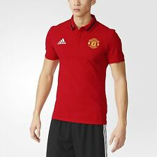 adidas MANCHESTER UNITED POLO SHIRT COTTON SLIM FIT OLD TRAFFORD FOOTBALL SOCCER