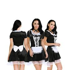 Ladies Women's Halloween Maid Fancy Dress Costume Outfit Hen Party Naughty Girl