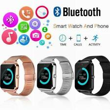 Z60 Bluetooth Smart Watch Phone Smartwatch Stainless Steel for IOS Android New
