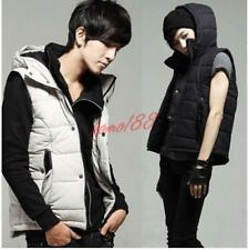 Fashion Mens Winter Outwear Vest Handsome Slim Warm Hooded  Waistcoat Casual