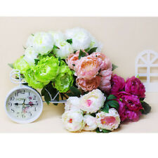 Bunch Arrangement Artificial Peony Silk Flowers Bouquet Home Wedding Decoration
