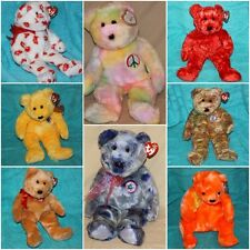 TY BEANIE BABY BUDDY BUDDIES BEAR MOST MWMT'S Peace etc ~ U-PICK CHOICE ~