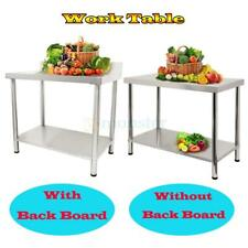 Stainless Steel Work Food Prep Table Heavy Duty Commercial Kitchen Restaurant