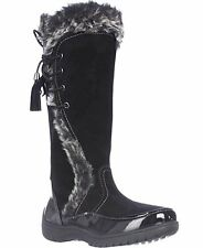New SPORTO SIDE WINDER BLACK WATERPROOF SUEDE TALL BOOTS WITH TASSEL LACE UP