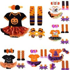 Halloween Baby Girls Party Costumes Cute Romper Bodysuit Fancy Dress Outfit Set