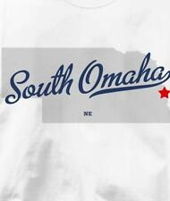 South Omaha, Nebraska NE MAP Souvenir T Shirt All Sizes & Colors