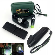 Zoomable 10000Lumens XML T6 Tactical LED Flashlight Torch Battery Charger Hiking
