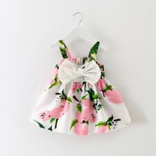 New Kids Girls Wear Floral Bow Tie A-Line Spaghetti Strap Sleeveless