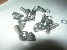 M4,M5,M6 POZI PAN M/c SCREWS A2 Stainless Pack of 10 + WING Nuts & Spr Washers