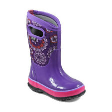 Bogs Kid's Classic Pansies Kids' Insulated Boots Purple Multi 72158-540