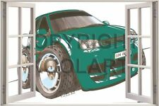 Huge 3D Koolart Window view Vw Golf Mk5 Wall Sticker Poster 2520