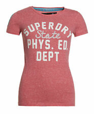 New Womens Superdry Factory Second Dept Entry T-Shirt Teaberry Marl