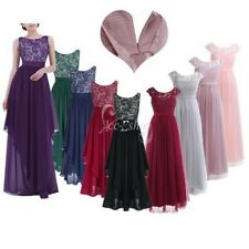 Women's Bridesmaid Wedding Cocktail Evening Party Pageant Maxi Tulle Dress Gown