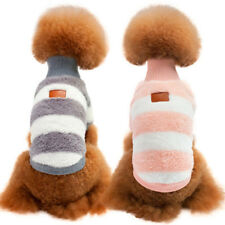 Pet Puppy Dog Coral Velvet Winter Sweater High- Collar Warm Coat Apparel Clothes