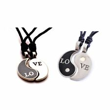 Love Yin Yang Silver Pewter Charm Necklace Pendant Jewelry