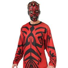 Mens Darth Maul Star Wars Day Sith Lord Halloween Party Outfit & Mask Costume