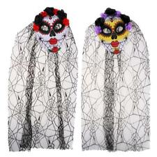 Horror Zombie Ghost Bride Mask Ladies Halloween Masquerade Costume Fancy Dress