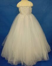 NEW FIRST COMMUNION / FLOWER GIRL BEADED DRESS BY ANGELS SIZE 4