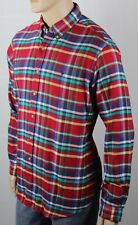 POLO Ralph Lauren Red Yellow Blue Flannel Classic Dress Shirt NWT