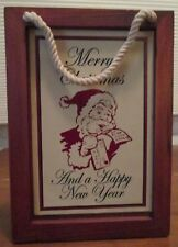 Used Wooden Wood Christmas Card Box
