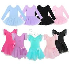 Girl Gymnastics Princess Ballet Dance Dress Leotard Tutu Skirt Dancewear Costume
