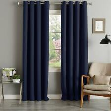 Aurora Home Grommet Top Thermal Insulated 96-inch Blackout Curtain Panel Pair -