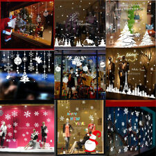 Merry Christmas Tree Snowflake Window Stickers Wall Clings Decal Xmas Decoration