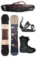 2018 HEAD Daymaker Wood 159cm Snowboard+Flow Bindings+Flow BOA Boots+BAG NEW