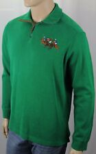Polo Ralph Lauren Green French Rib 1/2 Half Zip Sweater Big Pony Match NWT