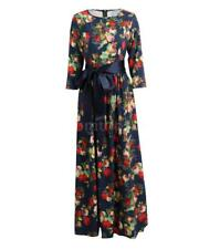 Women Vintage Floral Party Cocktail Dress Russian Style Maxi Long Dress N7I1