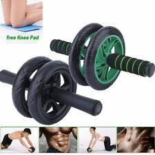 Abdominal Exercise Roller Fitness Strength Training Machine Abs Wheel Gym + Mat