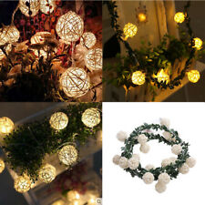 2.2m Rattan Ball String Fairy Light Battery Operated Decorative String Lighting