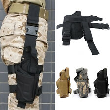 Adjustable Tactical Hunting Army Pistol Gun Drop Leg Thigh Holster Radio Pouch