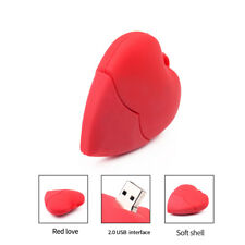 Red Heart USB Flash Drive Pen Drives Pendrive Memory Stick for Laptop 4-64GB