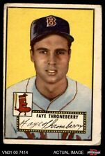 1952 Topps #376 Faye Throneberry Red Sox FAIR