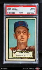 1952 Topps #356 Toby Atwell Cubs PSA 2 - GOOD