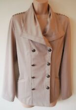 Womens Coat Jacket Size 10 12 14 16 New Ladies Light Brown Studded detail BNWT