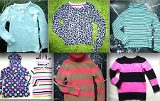 HANNA ANDERSSON Girls Striped NORDIC Floral Animal Prnt CABLE Knit SWEATER 6 7 8