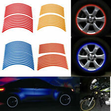 New Motorcycle Dirt Bike Car 16 Stripe Wheel Reflective Rim Tape Decal Stickers