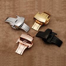 Chic Deployment Clasp Strap Buckle 16-24mm Stainless Steel Wrist Watch Band US