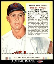 1954 Red Man #1 Bobby Avila With Tab  Indians EX/MT