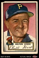 1952 Topps #381 Milton Stock Pirates FAIR
