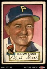 1952 Topps #381 Milton Stock Pirates GOOD