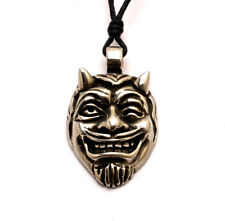 Satan Silver Pewter Charm Necklace Pendant Jewelry