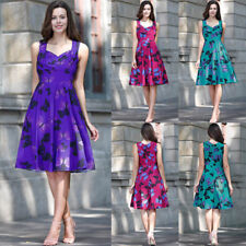 Women's Butterfly Vintage 1950s Rockabilly Christmas Evening Party Swing Dresses